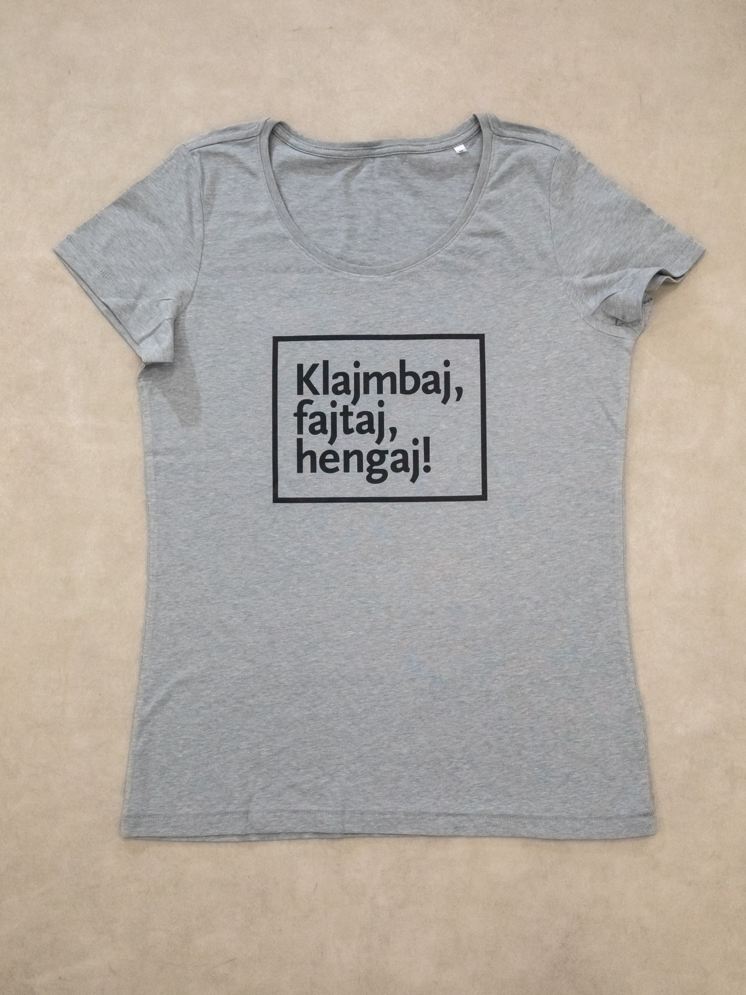 Slogan T-shirt / grey / W