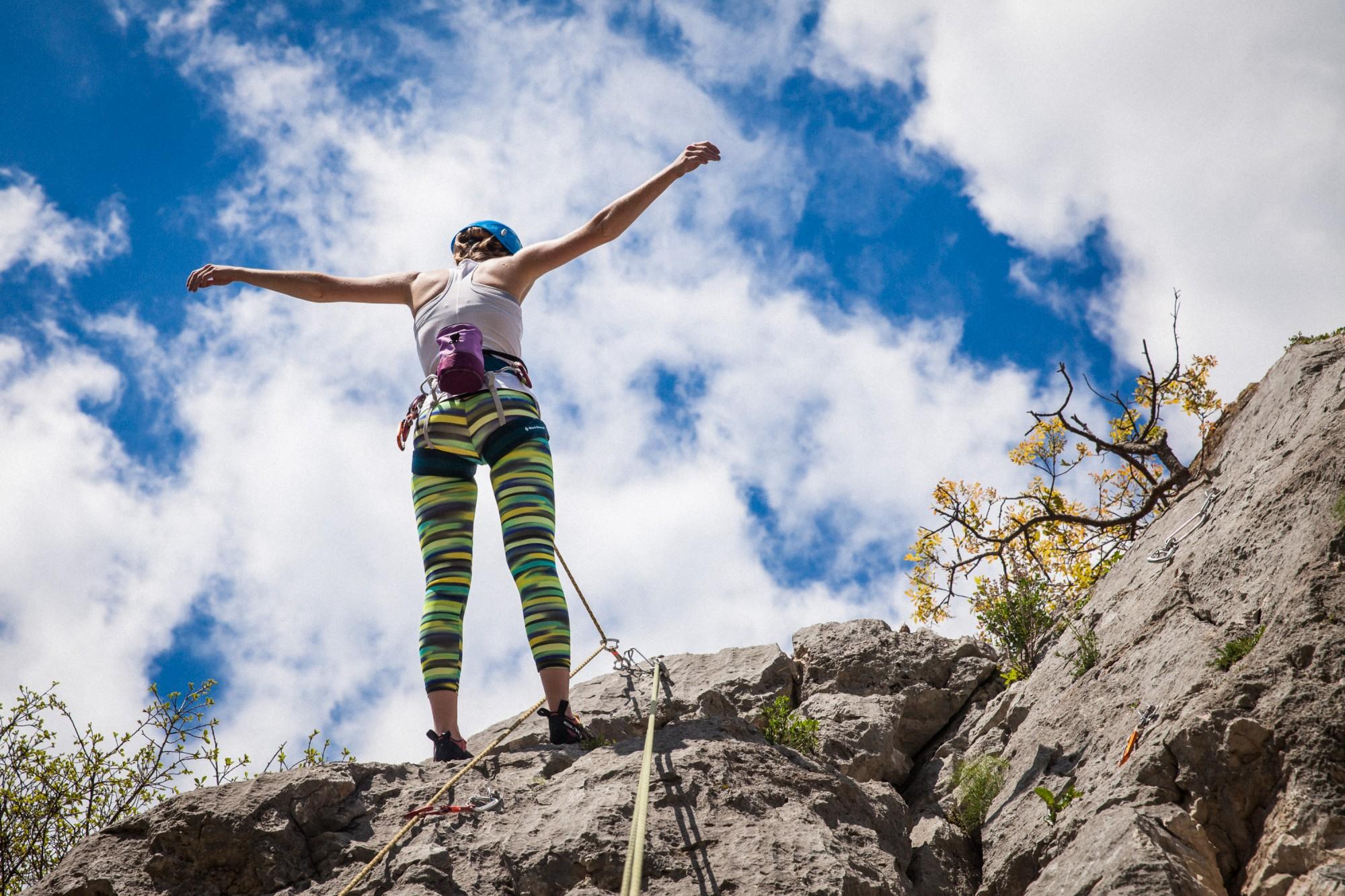Jesenski tečaj plezanja v skali